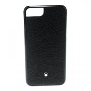 Montblanc Black Soft Grain Leather Hardphone Iphone 8 Case