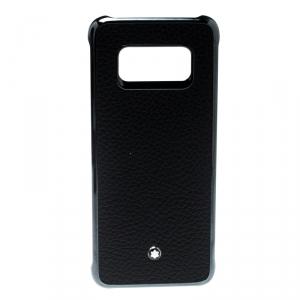 جراب آيفون S8 إيدج مون بلان هاردفون جلد أسود
