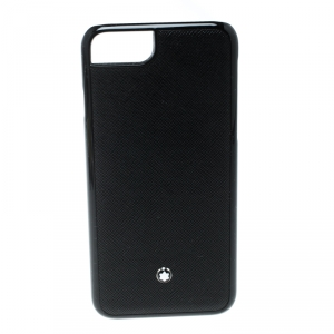 Montblanc Black Leather Hardphone iPhone 8 Case