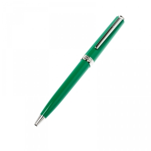 Montblanc Green Resin Platinum Finish Ballpoint Pen