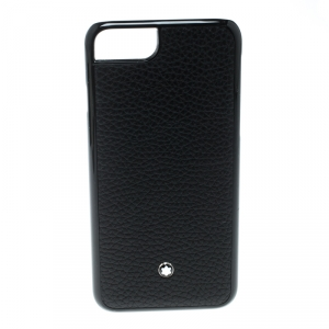 Montblanc Black Leather and Plastic Hardphone iPhone 8 Case