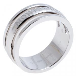 Montblanc Three Ring Motif Silver Men's Band Ring Size 68