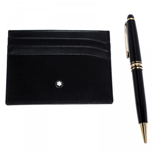 Montblanc Meisterstuck Classique Ballpoint Pen & Pocket Holder Set