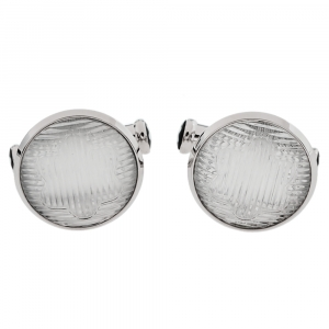 Montblanc Stainless Steel & Glass Urban Spirit Round Cufflinks