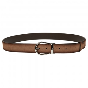 Montblanc Ombre Beige Suede Casual Line Buckle Belt 120CM