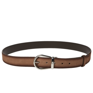 Montblanc Ombre Beige Suede Casual Line Buckle Belt 110CM