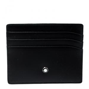 Montblanc Black Leather Meisterstuck 6CC Card Holder