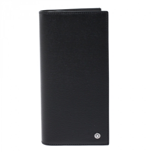 Montblanc Black Leather Westside 6CC Long Bifold wallet