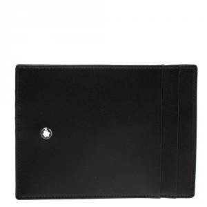 Montblanc Black Leather Sartorial Pocket 4cc with ID Card Holder