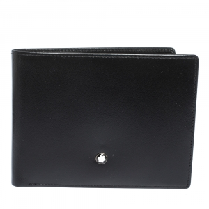 Montblanc Black Leather Meisterstuck Bifold Wallet