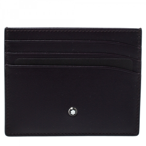 Montblanc Burgundy Leather Meisterstuck Card Holder 6CC
