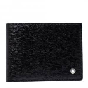 Montblanc Black Leather Westside Bifold Wallet