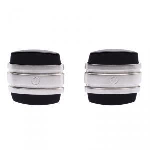 Montblanc Iconic Black Onyx Stainless Steel Cufflinks