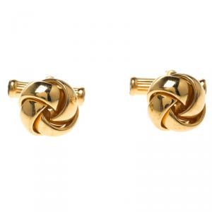 Montblanc Gold Tone Knot Cufflinks