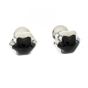 Montblanc Onyx Inlay Stainless Steel Star Cufflinks