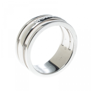 Montblanc Creative Silver Skeletted Men's Band Ring Size 68