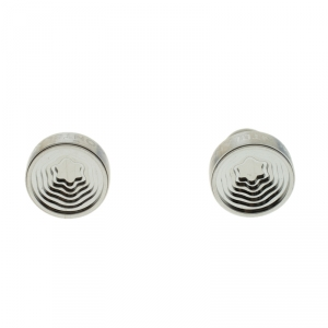 Montblanc Heritage Concentric Star Engraved Stainless Steel Round Cufflinks