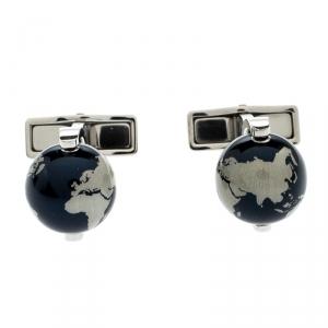 Montblanc Stainless Steel Heritage Spirit Globe Cufflinks