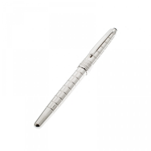 Montblanc Silver Facet 38247 Platinum Plated Rollerball Pen