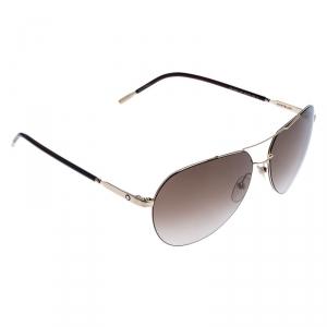 Montblanc Gold Tone/ Brown Gradient MB 695S Aviator Sunglasses