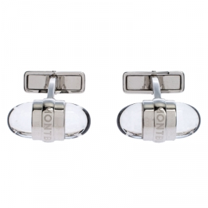 Montblanc Urban Walker Resin Silver Tone Cufflinks