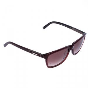 Montblanc Burgundy Gradient MB 461S Square Sunglasses