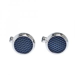 Montblanc Meisterstück Blue Grid Silver Tone Cufflinks