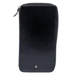 Montblanc Black Leather 13CC Sartorial Travel Wallet