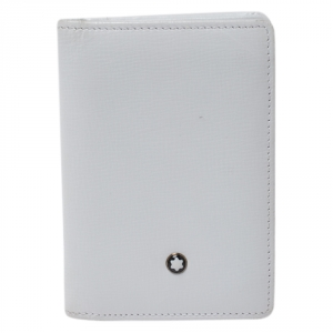 Montblanc White Leather Meisterstuck Card Holder