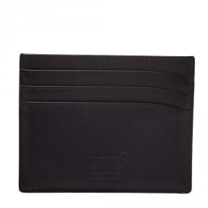 Montblanc Dark Purple Leather Meisterstuck Card Holder 6CC