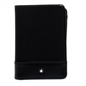 Montblanc Black Fabric and Leather Nightflight Cardholder