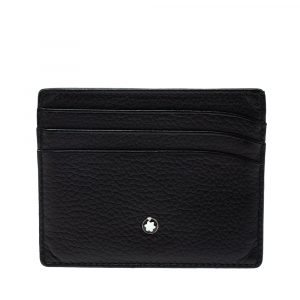 Montblanc Black Leather Meisterstuck Card Holder