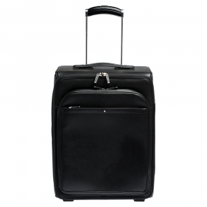 Montblanc Black Leather Nightflight On Board Luggage