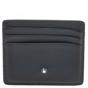 MontBlanc Navy Blue Leather Meisterstck 6CC Card Holder