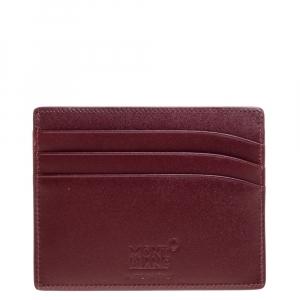 Montblanc Maroon Leather Meisterstück 6CC Card Holder