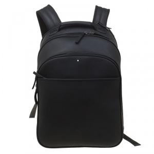 Montblanc Black Textured Leather Extreme Rucksack Backpack