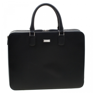 Montblanc Black Leather Meisterstück Briefcase