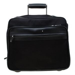 Montblanc Black Fabric and Leather Nightflight On Board Trolley