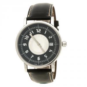 Montblanc Black Stainless Steel Pix 7045 Men's Wristwatch 38 mm