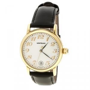 MontBlanc White Gold Plated Stainless Steel Star 7002 Pix Men's Wristwatch 36 mm
