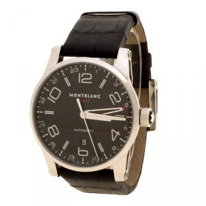 Montblanc Black Stainless Steel Timewalker GMT Automatic Men's Wristwatch 42MM