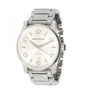 Montblanc Silver Stainless Steel Timewalker 7070 Men's Wristwatch 42 MM