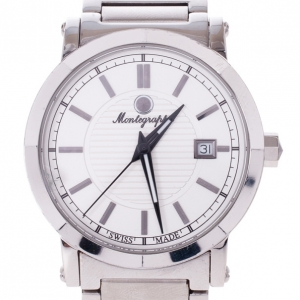 Montegrappa White Stainless Steel Parola Men's Wristwatch 40MM