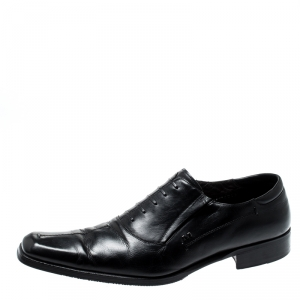 Moreschi Black Leather Oxford Size 42.5