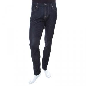Moschino Couture Indigo Dark Wash Straight Fit Denim Jeans S
