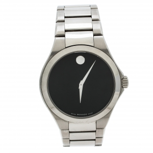 Movado Black Stainless Steel Defio Men's Wristwatch 40MM