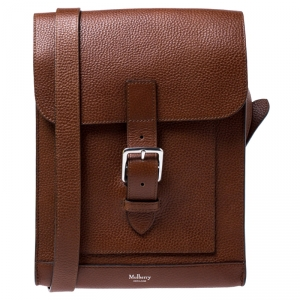 Mulberry Tan Leather Messenger Bag