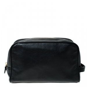 Mulberry Black Leather Wash Case
