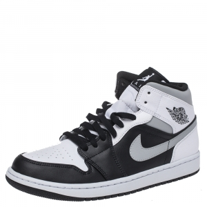 Air Jordan 1 Mid Nike Tricolor Leather High Top Sneakers Size 43.5