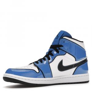 Nike Jordan 1 Mid Signal Blue Sneakers Size US 12 EU 46